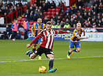 Billy Sharp of Sheffield Utd takes a penalty during the English League One match at the Bramall Lane Stadium, Sheffield. Picture date: November 19th, 2016. Pic Simon Bellis/Sportimage