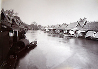 BNPS.co.uk (01202 558833)<br /> Pic: 25BlytheRoad/BNPS<br /> <br /> 'Klong' side houses.<br /> <br /> Stunning 125 year-old pictures of Thailand which showcase the tropical paradise long before it became a tourist hot-spot have emerged.<br /> <br /> The collection of photographs from the early 1890s include images of the King's birthday celebrations in 1892, the King's palace and the Bangkok architecture.<br /> <br /> Also included in the collection are photographs of Hong Kong under British crown rule in 1895 including of British seamen, the Hong Kong cricket team and the native army.<br /> <br /> The photo album will go under the hammer on January 25 and is tipped to sell for &pound;1,500.<br /> <br /> The owner of the album is believed to have been a member of the Royal Engineers or connected with them.<br /> <br /> The fascinating photos provide a snapshot of Thailand under the rule of King Chulalongkorn.<br /> <br /> He was the first Siamese king to have a full western education, having been taught by British governess Anna Leonowens whose memoirs were transported to the silver screen in the famous film The King and I.