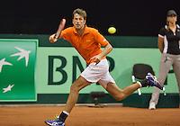 September 12, 2014, Netherlands, Amsterdam, Ziggo Dome, Davis Cup Netherlands-Croatia, Robin Haase (NED)<br /> Photo: Tennisimages/Henk Koster