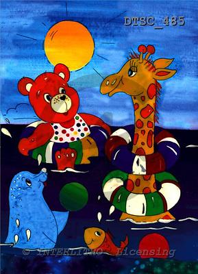 Hans, CUTE ANIMALS, paintings+++++,DTSC485,#AC# deutsch, illustrations, pinturas