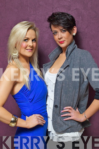 Dawn O'Sullivan and Grace Madden Tralee pictured at Miss Kerry Irish news of the world 2011 at the Carlton Hotel Tralee on Friday evening.