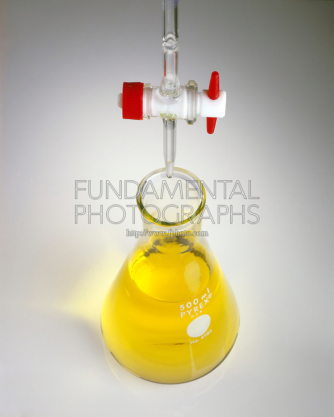 METHYL RED INDICATOR (2 of 2)<br /> Colors HCl Solution (pH 6.3) Yellow<br /> NaOH in buret will raise pH, the color change occurs when the solution has reached the equivalence point