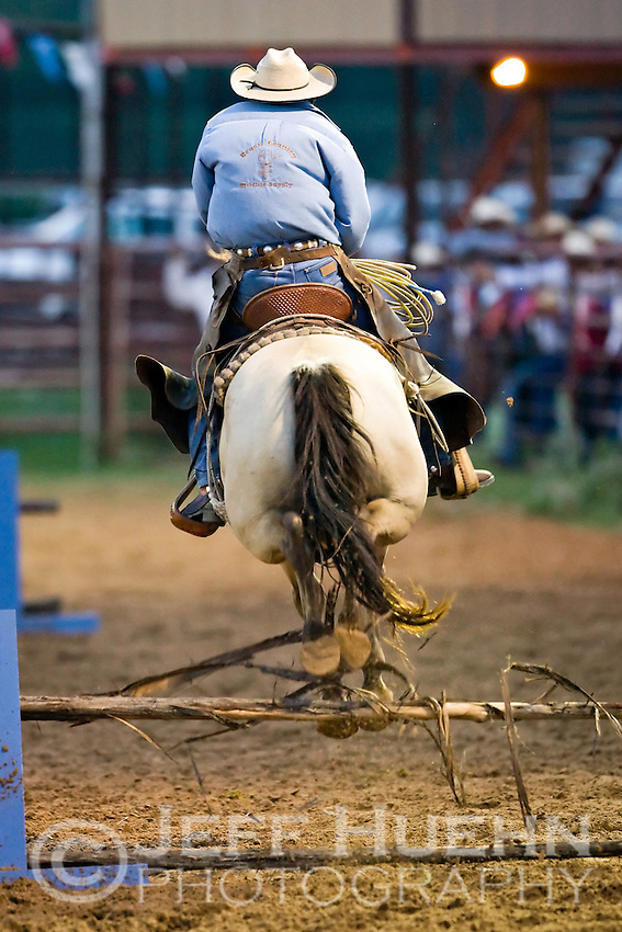 COTULLA, TX - SEPTEMBER 1, 2007: The Cotulla Ranch Rodeo Fiesta held at the Cotulla Rodeo Grounds in Cotulla, Texas. (Photo by Jeff Huehn)