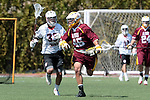 Orange, CA 05/02/10 - Ian Anderson (ASU # 45) and Blake Whitcomb (Chapman # 33) in action during the Chapman-Arizona State MCLA SLC Division I final at Wilson Field on Chapman University's campus.  Arizona State defeated Chapman 13-12 in overtime.