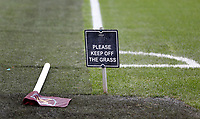 1st February 2020; London Stadium, London, England; English Premier League Football, West Ham United versus Brighton and Hove Albion; View of the corner flag at the London Stadium as the pitch gets watered ahead of kick off