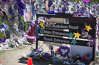 Directional sign for Prince's Paisley Park at 7801 Audubon Road. Paisley Park Studios Chanhassen Minnesota MN USA