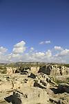 Israel, Carmel Coastal Plain, the Roman quarry at Nahal Taninim Nature Reserve