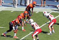 Special Teams Ball State defeated Virginia 48-27 during an NCAA football game Saturday Oct. 5, 2013 at Scott Stadium in Charlottesville, VA. Photo/Andrew Shurtleff