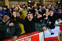 Leeds United fans show their support<br /> <br /> Photographer Richard Martin-Roberts /CameraSport<br /> <br /> The EFL Sky Bet Championship - Brentford v Leeds United - Tuesday 11th February 2020 - Griffin Park - Brentford<br /> <br /> World Copyright © 2020 CameraSport. All rights reserved. 43 Linden Ave. Countesthorpe. Leicester. England. LE8 5PG - Tel: +44 (0) 116 277 4147 - admin@camerasport.com - www.camerasport.com
