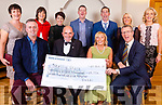 The 54321 Group presented a Cheque to the Skellig Stars for €28,754 to aid in their fund-raising for a running track in Cahersiveen, pictured here front l-r; Tony Dunne(54321), Denis Daly(Skellig Stars Chairman), Marian Kelly(Skellig Stars Secretary), T.J.O'Connor(54321), back l-r; Siobhan O'Sullivan, Helena Donnelly, Maeve Dunne, Eamon Ryan, Patrick Keating, Grace King & Angela O'Connor.