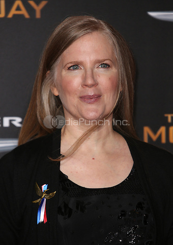 "Los Angeles, CA - November 16 Suzanne Collins Attending Premiere Of Lionsgate's ""The Hunger Games: Mockingjay - Part 2"" At Microsoft Theater On November 16, 2015. Photo Credit: Faye Sadou / MediaPunch"