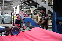 INDIA, Tamil Nadu, Tirupur, fairtrade textil factory, dying unit Cotton Blossom India Ltd., fabric dying machine