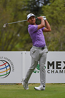 Xander Schauffele (USA) watches his tee shot on 18 during round 4 of the World Golf Championships, Mexico, Club De Golf Chapultepec, Mexico City, Mexico. 2/24/2019.<br /> Picture: Golffile | Ken Murray<br /> <br /> <br /> All photo usage must carry mandatory copyright credit (© Golffile | Ken Murray)