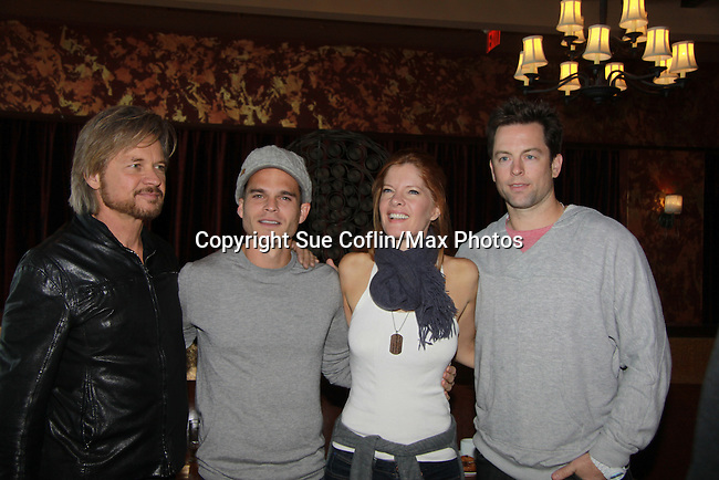 """Drama Brunch - The Young & The Restless stars Stephen Nichols - Greg Rikaart - Michelle Stafford - Michael Muhney came for the fans with a brunch and photos during the Soap Opera Festivals Weekend - """"All About The Drama"""" on March 25, 2012 at Bally's Atlantic City, Atlantic City, New Jersey.  (Photo by Sue Coflin/Max Photos)"""