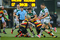 Jordy REID of Ealing Trailfinders during the Championship Cup match between Ealing Trailfinders and Richmond at Castle Bar , West Ealing , England  on 15 December 2018. Photo by David Horn.