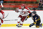 Colin Blackwell (Harvard - 63), Connor Jones (Quinnipiac - 10) - The Harvard University Crimson and Quinnipiac University Bobcats played to a 2-2 tie on Saturday, November 5, 2011, at Bright Hockey Center in Cambridge, Massachusetts.