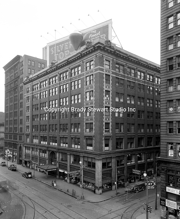 Pittsburgh PA:  The Jenkins Arcade was the first indoor shopping mall in the United States - 1935.  From 1970 to 1984, Brady Stewart offices were located in the Empire Building which was next to the Jenkins Arcade.  The Jenkins Arcade and Empire Building were torn down in 1984 to make room for the new Fifth Avenue Place.