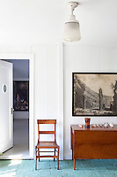 classic wooden chair and cabinet