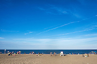 Vacationers at Rehobeth Beach, Delaware, USA.