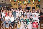 DOUBLE: Double 18th birthday celebrations for Sarah Murray and Karen O'Leary of Tralee (seated centre) at the Austin Stacks GAA Club, Connolly Park, Tralee, on Saturday night, where many of their family and friends attended..