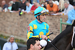 HOT SPRINGS, AR - FEBRUARY 19: Jockey Gary Stevens before the running of the Southwest Stakes at Oaklawn Park on February 19, 2018 in Hot Springs, Arkansas. (Photo by Justin Manning/Eclipse Sportswire/Getty Images)