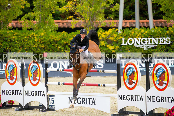 2nd Place. Maikel van de Vleuten. NED. Riding Beauville Z. Jump Off. Caixa Bank Trophy.  Longines FEI Jumping Nations Cup Final. Showjumping. Barcelona. Spain. Day 3. 07/10/2018. ~ MANDATORY Credit Elli Birch/Sportinpictures - NO UNAUTHORISED USE - 07837 394578