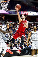 Washington, DC - MAR 10, 2018: Davidson Wildcats guard Jon Axel Gudmundsson (3) goes up for a lay up during semi final match up of the Atlantic 10 men's basketball championship between Davidson and St. Bonaventure at the Capital One Arena in Washington, DC. (Photo by Phil Peters/Media Images International)