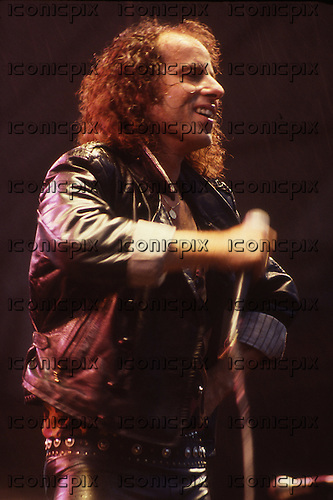 Scorpions - vocalist Klaus Meine - performing live at Knebworth UK - 22 Jun 1985.  Photo credit: George Bodnar Archive/IconicPix