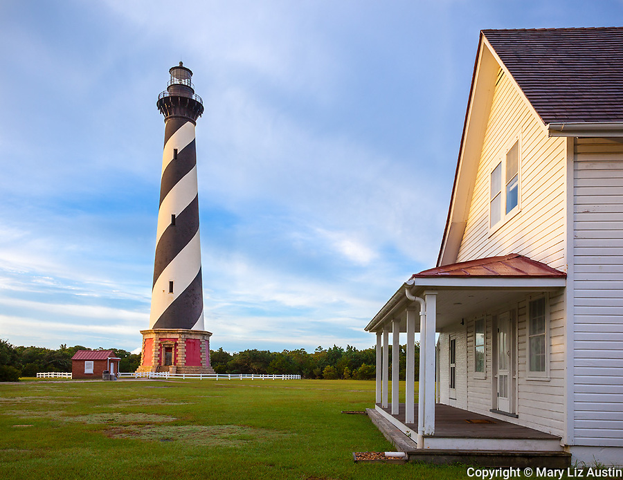 Cape Hatteras National Seashore, NC:  Cape Hatteras Lighthouse (1870) in morning light