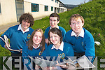 The Mounthawk debating team pictured at the school on Wednesday John O'Donnell, Sarah Guerin, Patrick Fitzgerald, Rosie O'Dowd and Conor Cleary