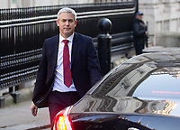 Stephen Barclay, Secretary of State for Exiting the European Union, leaves Downing Street to go to Parliament for PMQ's.