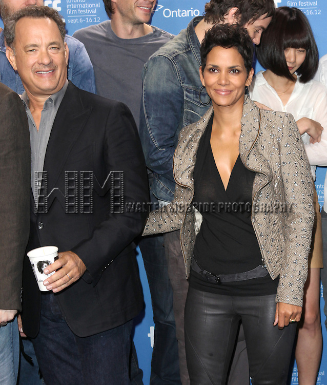 Tom Hanks and Halle Berry attending the The 2012 Toronto International Film Festival.Photo Call for 'Cloud Atlas' at the TIFF Bell Lightbox in Toronto on 9/9/2012