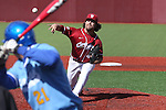 Kellen Camus fires to the plate during Washington State's non-conference battle with San Jose State at Bailey-Brayton Field in Pullman, Washington, on March 29, 2014.  The Cougars came back to defeat the Spartans, 12-9.