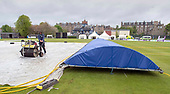 Issued by Cricket Scotland - Scotland V Afghanistan 1st One Day International - Grange CC - weather pic - rain brings on match abandoned despite the efforts of groundstaff - picture by Donald MacLeod - 08.05.19 - 07702 319 738 - clanmacleod@btinternet.com - www.donald-macleod.com