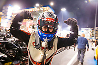 Oct 11, 2019; Concord, NC, USA; NHRA top fuel driver Steve Torrence reacts during qualifying for the Carolina Nationals at zMax Dragway. Mandatory Credit: Mark J. Rebilas-USA TODAY Sports