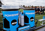 EASTON, MA - NOVEMBER 20:  Powerade is seen before the game between Shippensburg University and LIU Post in the NCAA Division II Field Hockey Championship at WB Mason Stadium on November 20, 2016 in Easton, Massachusetts.  Shippensburg University defeated LIU Post 2-1 for the national title. (Photo by Winslow Townson/NCAA Photos via Getty Images)