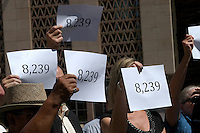 AJ Alexander - The Numbers are in at the Re-Election Signatures Press Confrence where Randy Paraz announced the 8,239 confirmed signatures for a Re-Election Recall on Russell Pearce at  the State Capitol, on Wednesday June 15, 2011..Photo by AJ Alexander