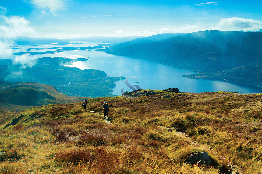 Loch Lomond from Ptarmigan Ridge, Ben Lomond, Loch Lomond and the Trossachs National Park, Stirlingshire