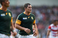 Francois Louw of South Africa looks on during a break in play. Rugby World Cup Pool B match between South Africa and Japan on September 19, 2015 at the Brighton Community Stadium in Brighton, England. Photo by: Patrick Khachfe / Onside Images