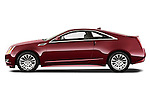 Driver side profile view of a 2011 Cadillac CTS Coupe Premium.