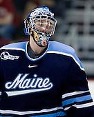 Dave Wilson (Maine - 33) - The Boston University Terriers defeated the University of Maine Black Bears 1-0 (OT) on Saturday, February 16, 2008 at Agganis Arena in Boston, Massachusetts.
