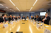 United States President Donald Trump and First Lady Melania Trump attend the 2018 Hurricane Briefing at the FEMA eadquarters on June 6, 2018 in Washington, DC. <br /> <br /> CAP/MPI/RS<br /> &copy;RS/MPI/Capital Pictures