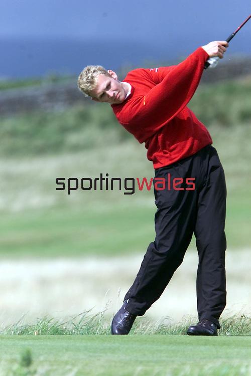 Craig Williams.2001 Welsh Amateur Champion.Royal Porthcawl 4.08.01.©Steve Pope.Sportingwales.com.07798 83 00 89.124 Duckpool Road.Newport.South Wales .NP19 8FL