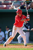 Joe Panik #2 of the St. John's Red Storm during the Big East-Big Ten Challenge vs. the Michigan Wolverines at Al Lang Field in St. Petersburg, Florida;  February 19, 2011.  St. John's defeated Michigan 13-6.  Photo By Mike Janes/Four Seam Images