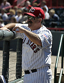 August 22, 2004:  Manager Rick Sweet of the Erie Seawolves, Eastern League (AA) affiliate of the Detroit Tigers, during a game at Jerry Uht Park in Erie, PA.  Photo by:  Mike Janes/Four Seam Images