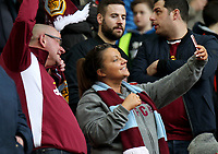 Burnley fans wait for kick-off<br /> <br /> Photographer Rich Linley/CameraSport<br /> <br /> The Premier League - Liverpool v Burnley - Sunday 12 March 2017 - Anfield - Liverpool<br /> <br /> World Copyright &copy; 2017 CameraSport. All rights reserved. 43 Linden Ave. Countesthorpe. Leicester. England. LE8 5PG - Tel: +44 (0) 116 277 4147 - admin@camerasport.com - www.camerasport.com