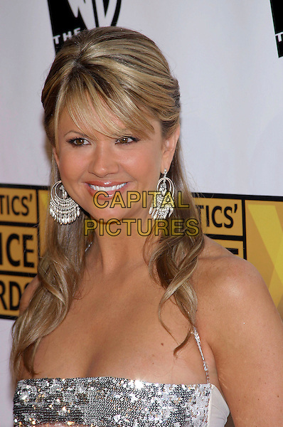 NANCY O'DELL.The 10th Annual Critics' Choice Awards held at the Wiltern Theatre, Los Angeles, California, USA, .January 10th 2005..portrait headshot silver hoop circle earrings.Ref: ADM.www.capitalpictures.com.sales@capitalpictures.com.©JWong/AdMedia/Capital Pictures s.