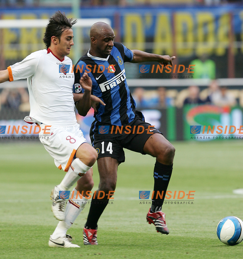 Patrick Vieira (Inter) Alberto Aquilani (Roma)<br /> Italy &quot;Tim Cup&quot; 2006-07 - Coppa Italia<br /> 17 May 2007 (Final 2st Leg)<br /> Inter-Roma (2-1) (a.r. 2-6)<br /> &quot;Giuseppe Meazza&quot; Stadium-Milano-Italy<br /> Photographer Andrea Staccioli INSIDE