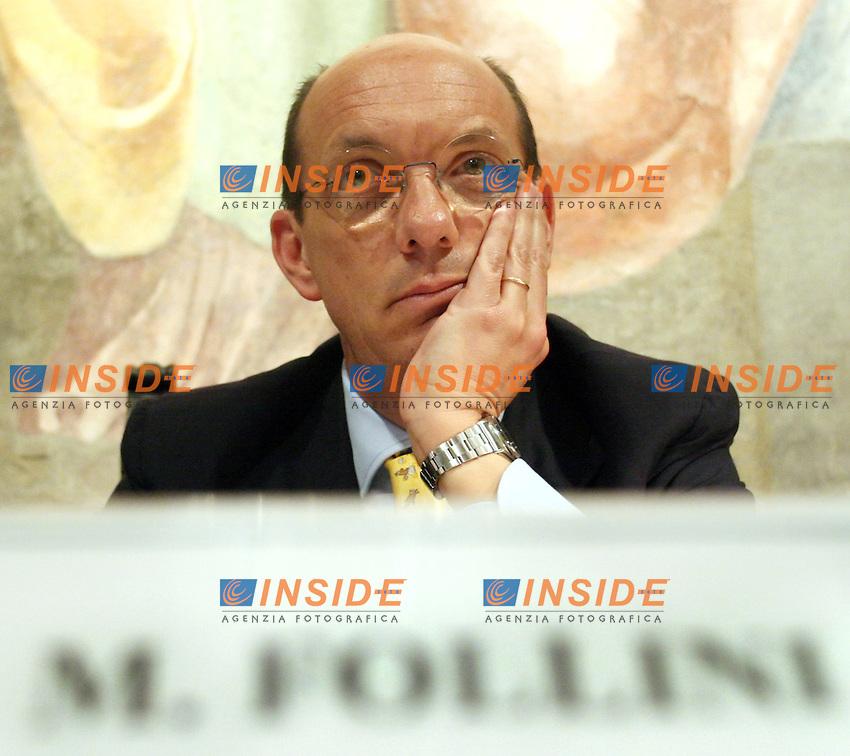 Roma 20-04-2006 Presentazione del libro &quot;Democristiani Immaginari&quot; di Marco Damilano<br /> Nella foto Marco Follini UDC <br /> Photo Serena Cremaschi Insidefoto