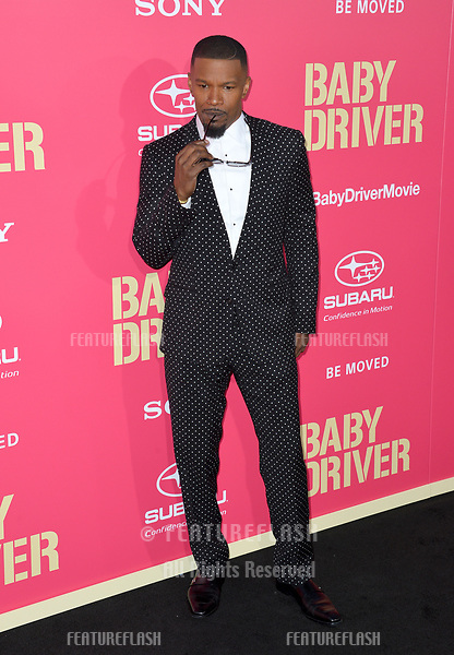 Jaime Foxx at the Los Angeles premiere for &quot;Baby Driver&quot; at the Ace Hotel Downtown. <br /> Los Angeles, USA 14 June  2017<br /> Picture: Paul Smith/Featureflash/SilverHub 0208 004 5359 sales@silverhubmedia.com